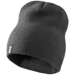 Level beanie, Unisex, 1x1 Rib knit of 100% Acrylic, Grey