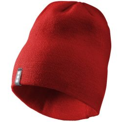 Level beanie, Unisex, 1x1 Rib knit of 100% Acrylic, Red