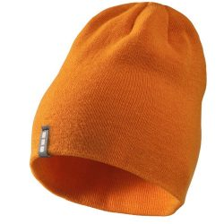 Level beanie, Unisex, 1x1 Rib knit of 100% Acrylic, Orange