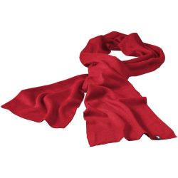 Mark scarf, Unisex, 1x1 Rib knit of 100% Acrylic, Red
