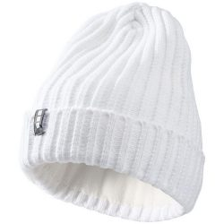 Spire hat, Unisex, 2X2 Rib knit of 100% Acrylic, White