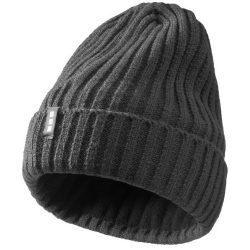Spire hat, Unisex, 2X2 Rib knit of 100% Acrylic, Grey