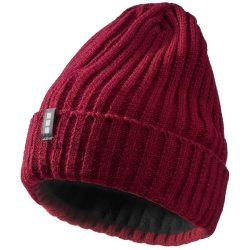 Spire hat, Unisex, 2X2 Rib knit of 100% Acrylic, Burgundy