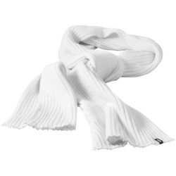 Broach scarf, Unisex, 2x2 100% Acrylic rib knit, White