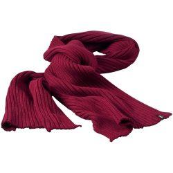 Broach scarf, Unisex, 2x2 100% Acrylic rib knit, Burgundy