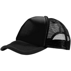 Trucker 5 panel cap, Unisex, Polyester and Foam, solid black