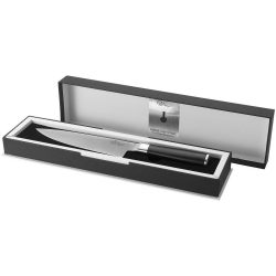 Finesse chef's knife, Stainless steel and ABS, solid black, Silver