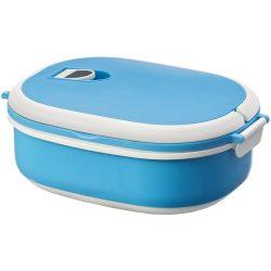 Caserola pranz, 750 ml, Everestus, CAE11, plastic, cauciuc, albastru, alb, saculet sport inclus