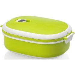 Caserola pranz, 750 ml, Everestus, CAE12, plastic, cauciuc, verde, alb, saculet sport inclus