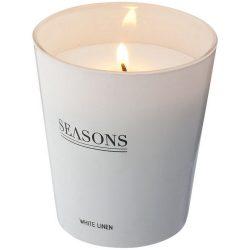 Lumanare parfumata fresh, Seasons by AleXer, LR01, sticla, alb, laveta inclusa