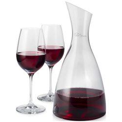 Set decantor si 2 pahare de vin, Everestus, PE, sticla, transparent