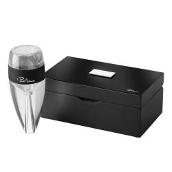 Aerator pentru vin, Paul Bocuse by AleXer, VE01, acril, transparent, breloc inclus din piele ecologica si metal