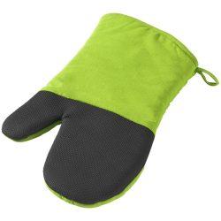 Manusa de bucatarie pentru cuptor, bumbac, cauciuc, Everestus, MBE11, verde lime, negru, saculet de calatorie inclus