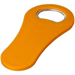 Rally magnetic drinking bottle opener, ABS plastic, Orange