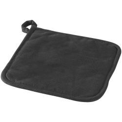 Arica cotton pot holder, Cotton, solid black