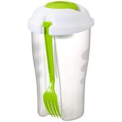 Caserola salata, Everestus, CAE43, plastic, verde, transparent, saculet sport inclus