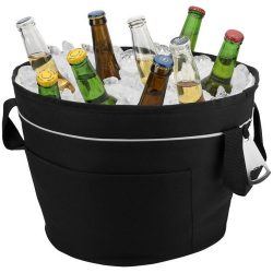 Bayport collapsible XL cooler tub, 600D Polyester, solid black