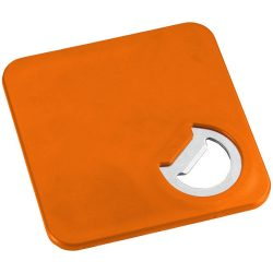 Rally coaster and bottle opener, ABS plastic, Orange