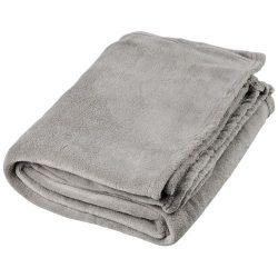 Bay extra soft coral fleece plaid blanket, 240 g/m² Polar fleece, Grey