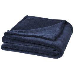 Bay extra soft coral fleece plaid blanket, 240 g/m² Polar fleece, Dark blue