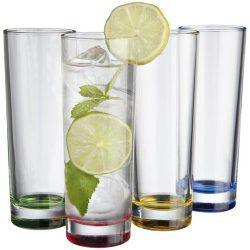 Set 4 pahare din sticla, Everestus, RO, multicolor