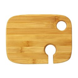 Miller wooden appetiser board with wine glass holder, Bamboo, Wood
