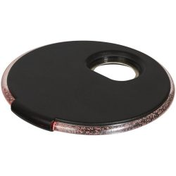 LED coaster with opener, ABS Plastic, solid black