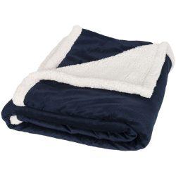 Patura tartan 150x125 cm, Everestus, LN01, 190 g/mp mircoplush lana si 180 g/mp sherpa lana, albastru, saculet inclus