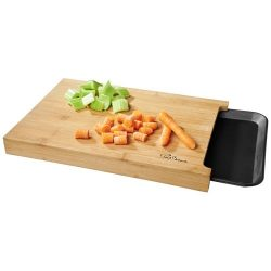 Daelan cutting board with tray, Bamboo, PP plastic, Wood