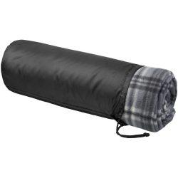 Patura picnic tartan 150x125 cm, Everestus, ST02, poliester, negru, saculet de calatorie inclus