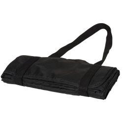 Patura picnic tartan 145x122 cm, cu maner de prindere, Everestus, RR02, poliester, negru, saculet de calatorie inclus