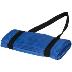 Patura picnic tartan 145x122 cm, cu maner de prindere, Everestus, RR01, poliester, albastru, saculet de calatorie inclus
