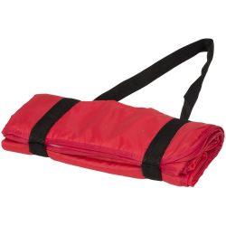 Patura picnic tartan 145x122 cm, cu maner de prindere, Everestus, RR03, poliester, rosu, saculet de calatorie inclus