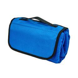 Patura picnic clasica, cu maner, 117x135 cm, Everestus, JU094, lana, albastru