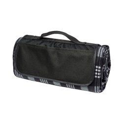 Patura picnic clasica, cu maner, 120x135 cm, Everestus, JU096, lana, negru, saculet de calatorie inclus