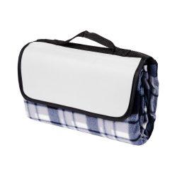 Patura picnic clasica, cu maner, 120x135 cm, Everestus, JU098, lana, gri, saculet de calatorie inclus