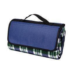 Patura picnic clasica, cu maner, 120x135 cm, Everestus, JU097, lana, albastru, saculet de calatorie inclus