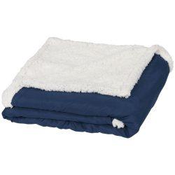 Patura tartan sherpa 152x127 cm, Everestus, FR01, 70 grame/mp microfibra si 180 grame/mp lana sherpa, albastru