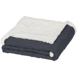 Patura tartan sherpa 152x127 cm, Everestus, FR02, 70 grame/mp microfibra si 180 grame/mp lana sherpa, gri