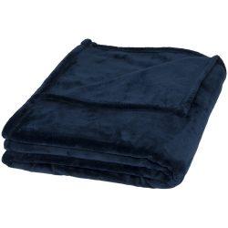 Patura tartan 180x152 cm, moale la atingere, Everestus, MS01, 350 grame/mp poliester ultra, albastru, saculet sport inclus