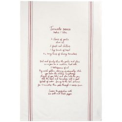 Aberdeen cotton recipe tea towel, Cotton, Red