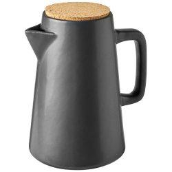 Carafa pentru apa cu capac din pluta, Everestus, 9IA19093, Ceramica, Gri