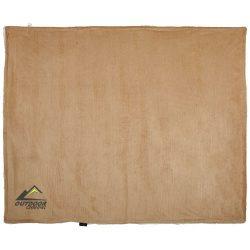 Cosie corduroy sherpa blanket, 100% Polyester, Tangerine