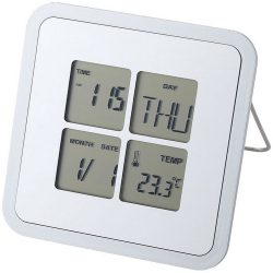 Livorno desk weather station, Plastic, Silver