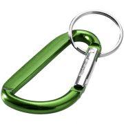 Breloc cu carabina, Everestus, KR0729, aluminiu, verde