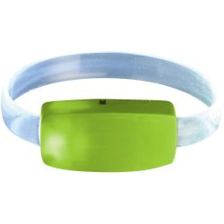 Raver LED wrist band, ABS plastic and PU, Lime,Transparent
