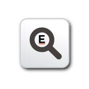 Breloc oval, Everestus, KR0081, aluminiu, alb