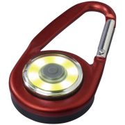 Eye COB light with carabiner, Aluminium and PP plastic, Red