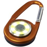 Eye COB light with carabiner, Aluminium and PP plastic, Orange