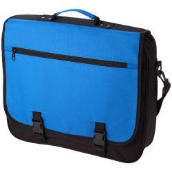 Geanta de conferinte, buzunar frontal, curele ajustabile, Everestus, AE, 600D poliester, albastru aqua
